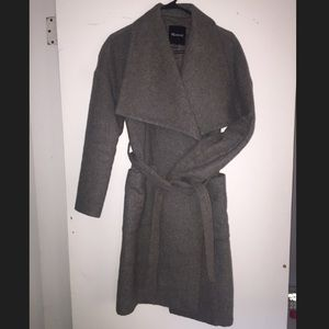 Madewell long coat gray xxs