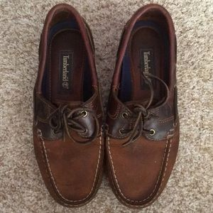 Timberland leather boat shoes slip-on loafers