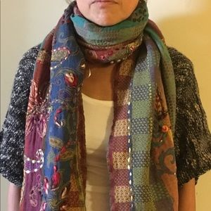 Hand woven one of a kind wool scarves from Ibiza