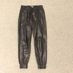 Vince Leather Joggers