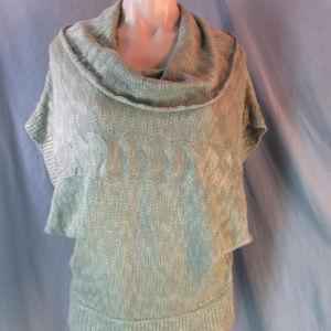 Pink Rose Sheen Knit Oversize Cowl Sweater XL