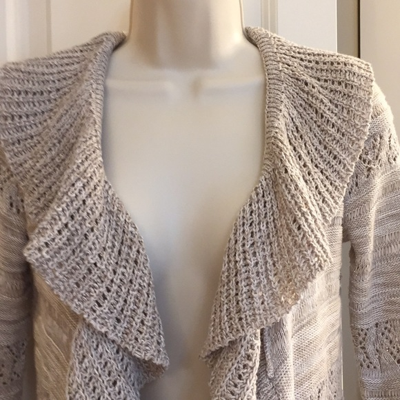 Style & Co Sweaters - Ruffled Open Front Cardigan Sweater