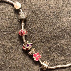 Pandora Jewelry - Pandora small bracelet with charms