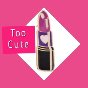 Jewelry - 🆕 Pink Lipstick Enameled Pin
