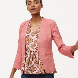 Loft Pink Wool/Tweed Blazer