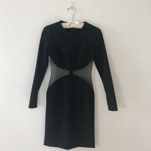 Stella Mccartney Black Mesh Inset Dress 38