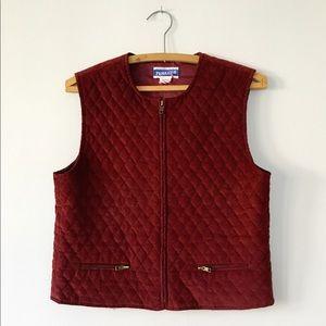 Vintage 70s Pendleton Corduroy Quilted Vest