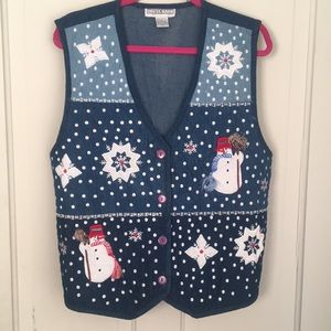 🎄☃️ Christmas Quilted vest