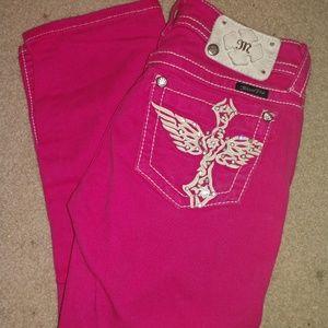 Miss Me Pink Capris Size 26