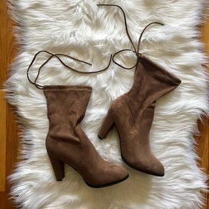 Taupe Sock Boots