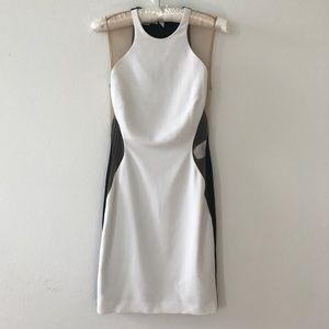 Stella Mccartney White Mesh Silhouette Dress 40