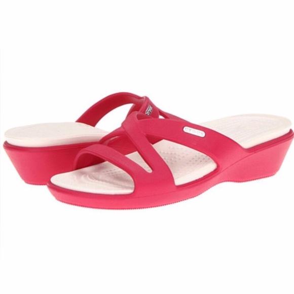 00512a3b243b CROCS Shoes - Crocs Patricia II Wedge Sandals Size 9
