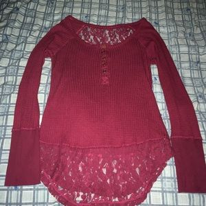 Tops - Thermal lace top