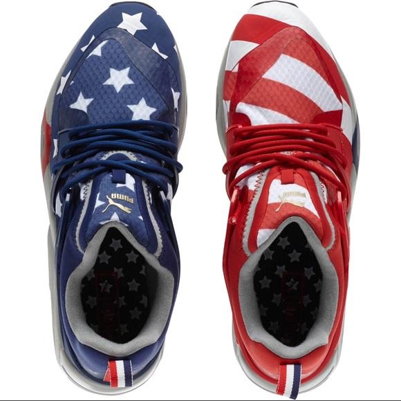 3c7906b466c New Puma Blaze of Glory Shoes American USA Flag