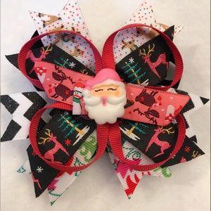 Other - Santa Pink Christmas Bow
