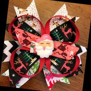 Other - Santa Pink Christmas Bow