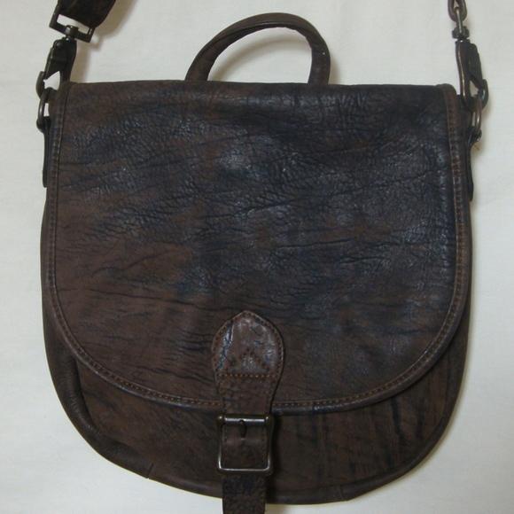 42d0bcbbd9c8 Hobo International brown leather Messenger bag HoBo International