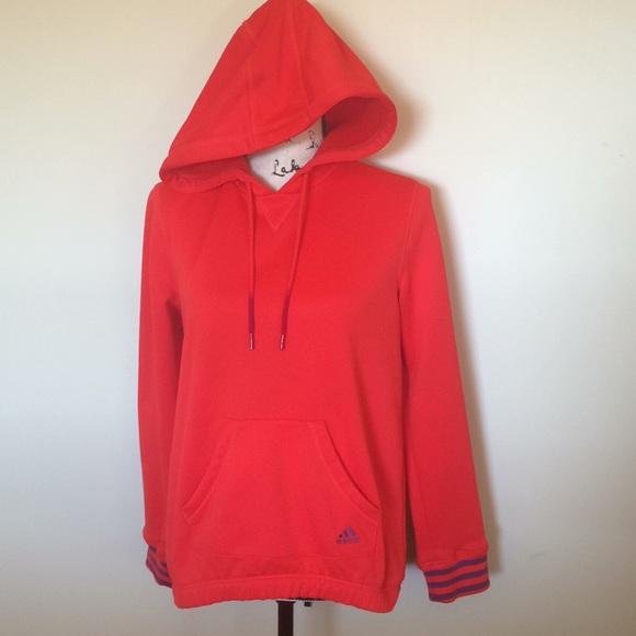 huge discount 886e4 3f0e1 adidas Tops - Adidas Bright Orange Hoodie Size Small