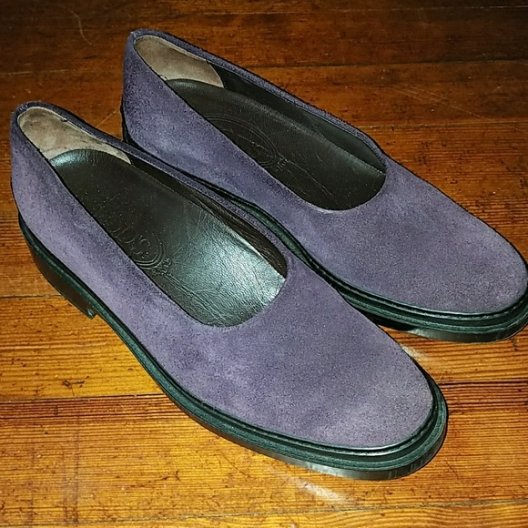 Tod's purple loafers flats