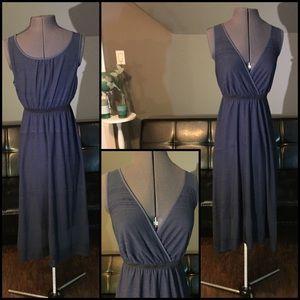 Navy Blue Vera Wang Midi Crossover Maxi Dress