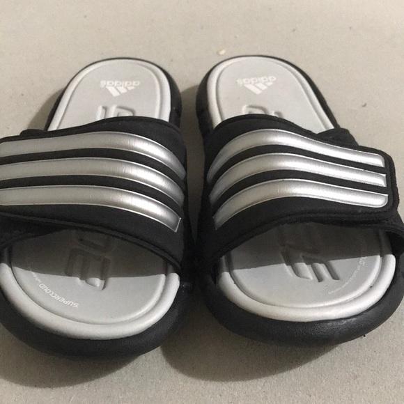5bbcd84bb54df adidas Other - Kids Adidas ADILIGHT Black Silver Sandals Sz 1