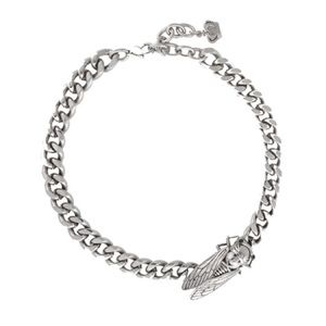 Butler & Wilson Side Beetle Chunky Chain Necklace