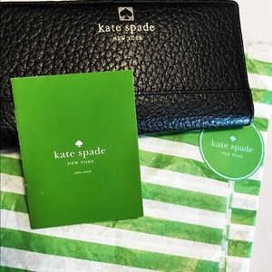 REDUCED Authentic Kate Spade Black Leather Wallet