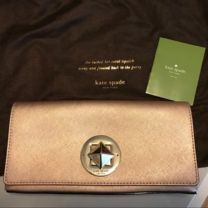 100% Authentic Kate Spade Clutch in Blush Pink