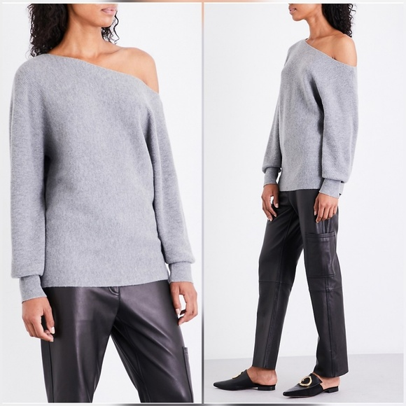 2eb6007cfb Theory Sweaters | One Shoulder 100 Cashmere Sweater Gray | Poshmark
