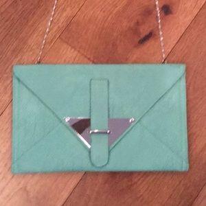 Handbags - Turquoise Envelope Clutch