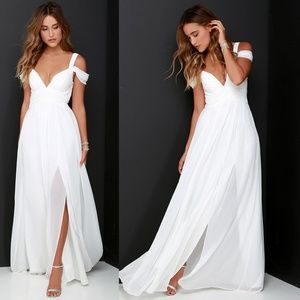 Bariano Ocean Of Elegence Maxi Dress White SM