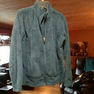 Jackets & Blazers - Teal blue zip-up fleece