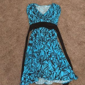 Dresses & Skirts - Teal brown midi dress