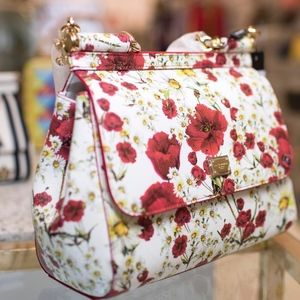Dolce and Gabbana Sicily Flower Bag