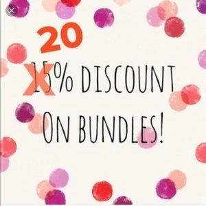 20% off of bundles of 2 or more!! Limited time!!