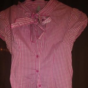 🌻🌻A cute pink and white checkered