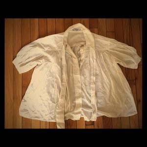 Yves Saint Laurent Vintage flowery blouse with bow