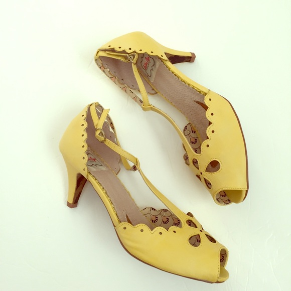 2f6f1129da36 Bettie Page shoes by ellie Shoes - Bettie Page shoes by Ellie retro yellow  heels