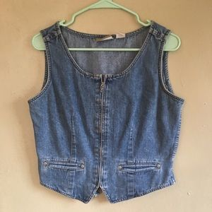 Adorable Vintage Lizwear Denim Vest