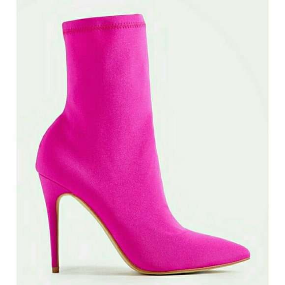 Shoes - Hot Pink Stiletto Booties! Size 9.5