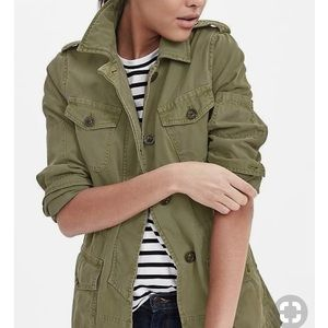 Banana Republic Olive Military Utility Jacket