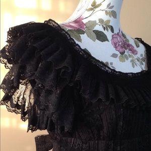 Anna Sui black lace dress 6