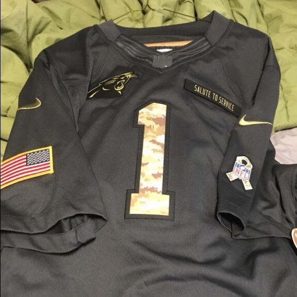 buy popular adbea 36775 NEW:Cam Newton Salute to Service Stitched Jersey