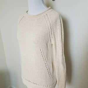 7f3836b584 J. Crew Factory Sweaters - J. Crew Pale Pink Beach Sweater Pointelle Details
