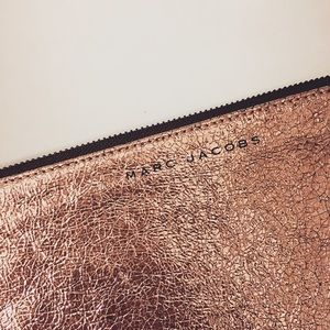 Marc Jacobs Pink Metallic Holiday Clutch