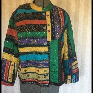 Chico's patchwork jacket.