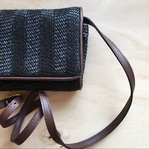 Lord And Taylor Vintage Wicker/Straw Crossbody