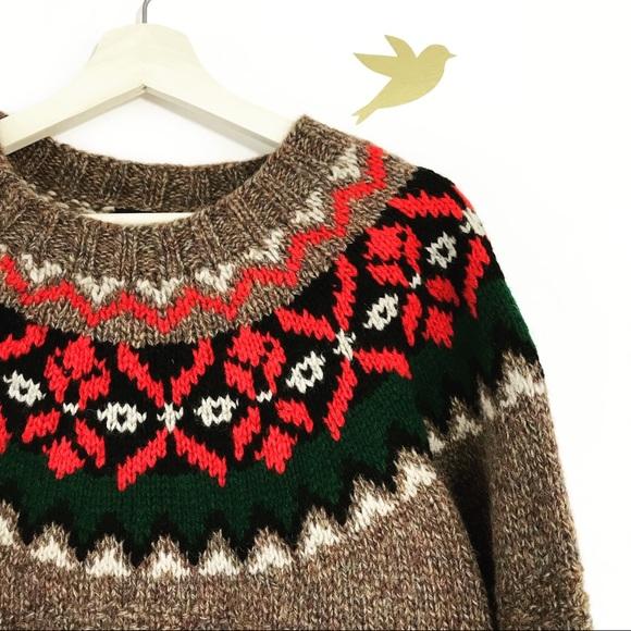 66% off GAP Sweaters - Vintage Gap Oversized Fair Isle Boyfriend ...