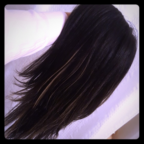 Accessories Black W Ash Blonde Lowlights Quickweave Wig Poshmark
