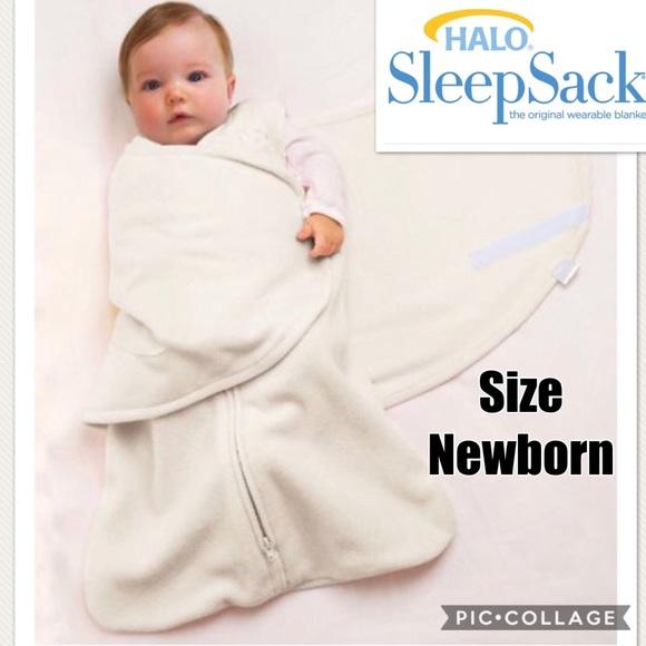 pretty nice b9e5a 9c90d Halo Fleece Swaddle Sleepsack Size Newborn 0-3Mo